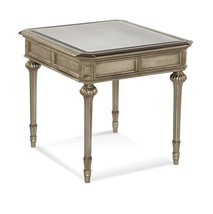 Bassett Mirror T2815-200EC Palazzina Rectangle End Table in Champaign Si... - $650.00