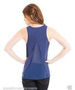 Marciano Tank Top Shirt Split Back Blue Size S ... - $44.00