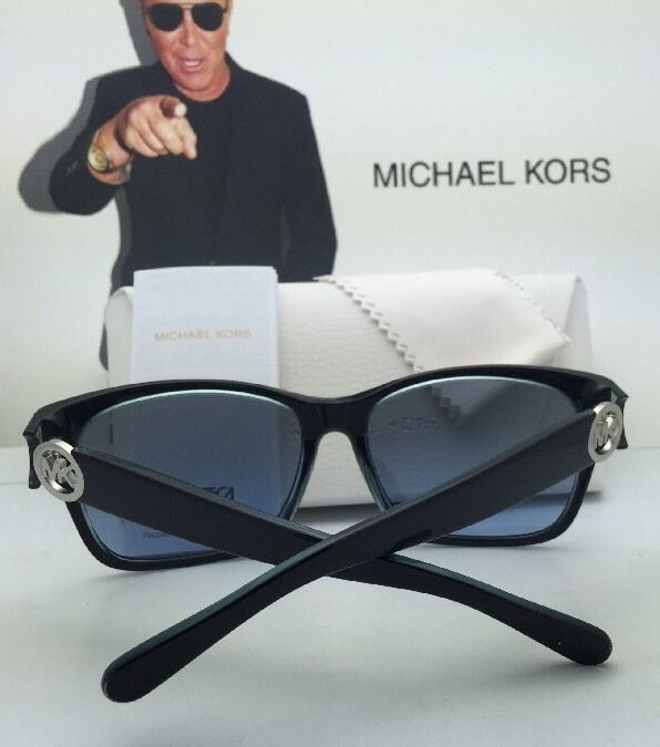 New MICHAEL KORS Sunglasses ABELA II MK 6039 312911 Black-White w/ Grey Gradient