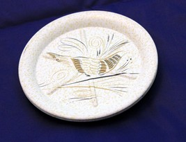 Aluminum Drink Coasters Golden Highlights with Pheasant Mid Century Bar ... - $18.59