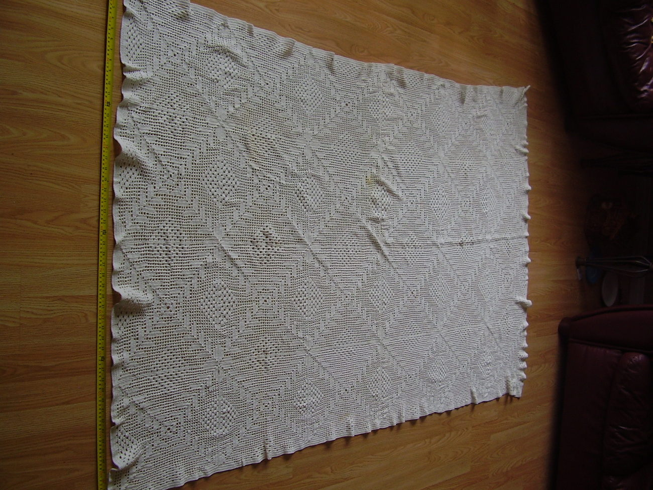 Primary image for Vintage - Checker / Diamond Crochet Tablecloth
