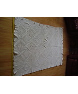 Vintage - Checker / Diamond Crochet Tablecloth - $100.00