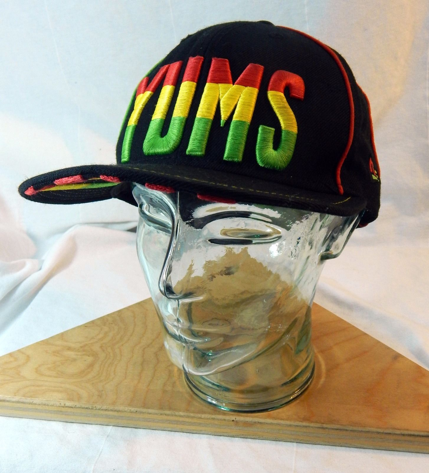 buy online a387c a34ff 57. 57. Previous. YUMS Rasta Snapback Hat Adjustable One Size Red Yellow  Green New Era