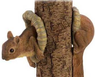 Woodland Squirrel Tree decor Two-piece decoration creates illusion