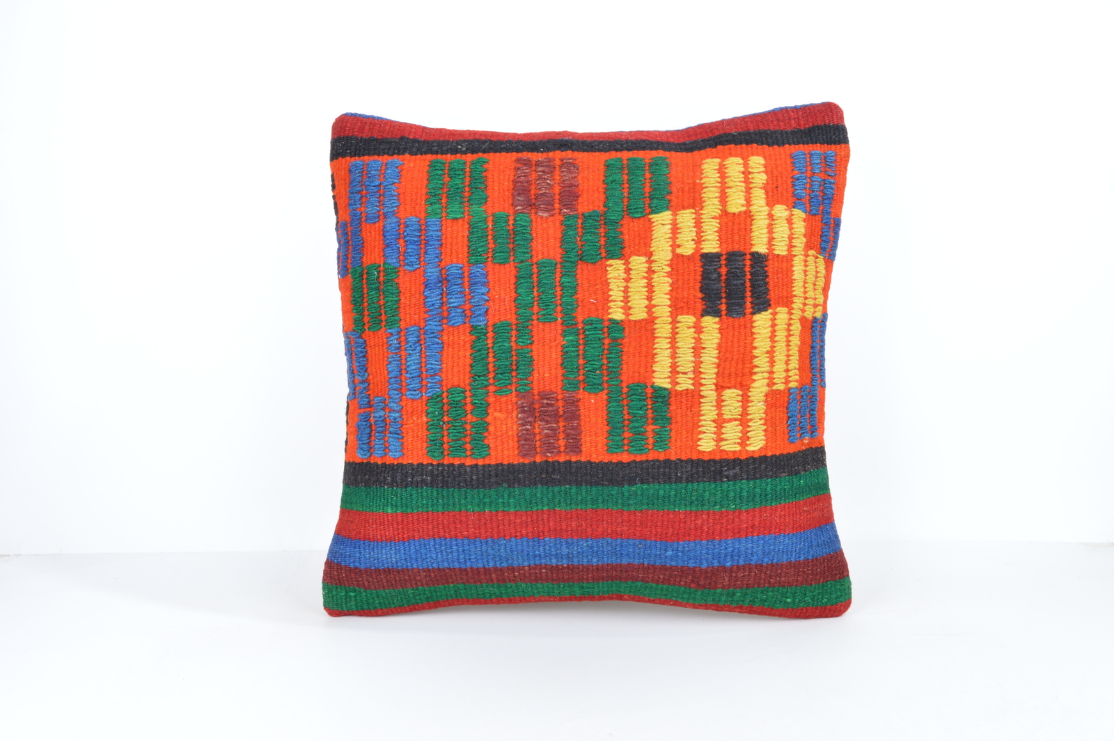 Accent embroidered pillows cute pillows modern pillows throw pillow orange green - Pillows