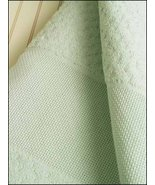 "Aqua 18"" Popcorn Fingertip Towel 14ct 100% cotton cross stitch STS Crafts - $4.00"