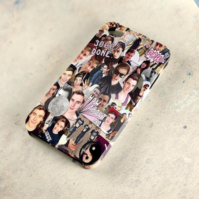 Connor Franta Collage O2L Cute Face AG 3D Samsung s4 5 iPhone 4 5 6 ...