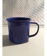 Enamel Blue and White Speckled Camping Hiking Coffee Hot Cocoa Cup - $8.44