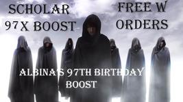Free W $100+ Orders FRI-SUN 7 Scholars 97X Albina Bday Boost Magick & Magickals - $0.00