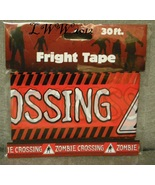 Zombie Crossing Warning Caution Halloween Fright Tape 30 feet long - $3.99