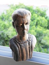 Vintage African Carved Lovely Rosewood Sculpture Statue Man Bust Collect... - $138.59
