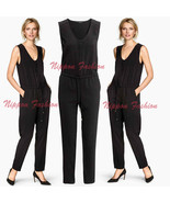 H&M Jersey Sleeveless Jumpsuit Party Drawstring Romper Trousers Clubwear... - $79.99