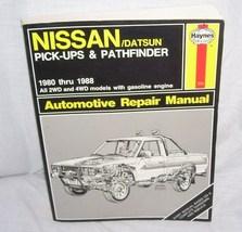 Haynes NISSAN/DATSUN Pick-Ups & Pathfinder 1980-1988 Automotive Repair M... - $6.96