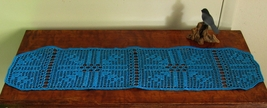 Turquoise Silver Arrows Table Runner - Crochet ... - $30.00