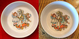 1969 VTG LOT Oneida Deluxe RAGGEDY ANN & ANDY Melmac Cereal Bowls Bobbs ... - $17.77