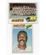 1977 Topps San Francisco Giants Team Set with Willie McCovey - $5.79