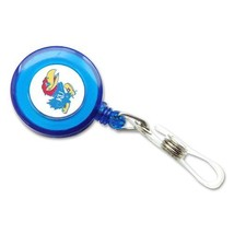 Kansas Jayhawks Retractable Badge Reel Id Ticket Clip Ncaa [Office Product] - $8.90