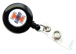 Illinois Fighting Illini Retractable Badge Reel Id Ticket Clip Ncaa - $7.91