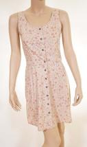 Calvin Klein Jeans Womens Beige Stone Floral Sleeveless Button Down Tank... - $49.99