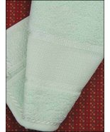 "Aqua 18"" Deluxe Fingertip Towel 14ct 100% cotton cross stitch STS Crafts - $4.00"
