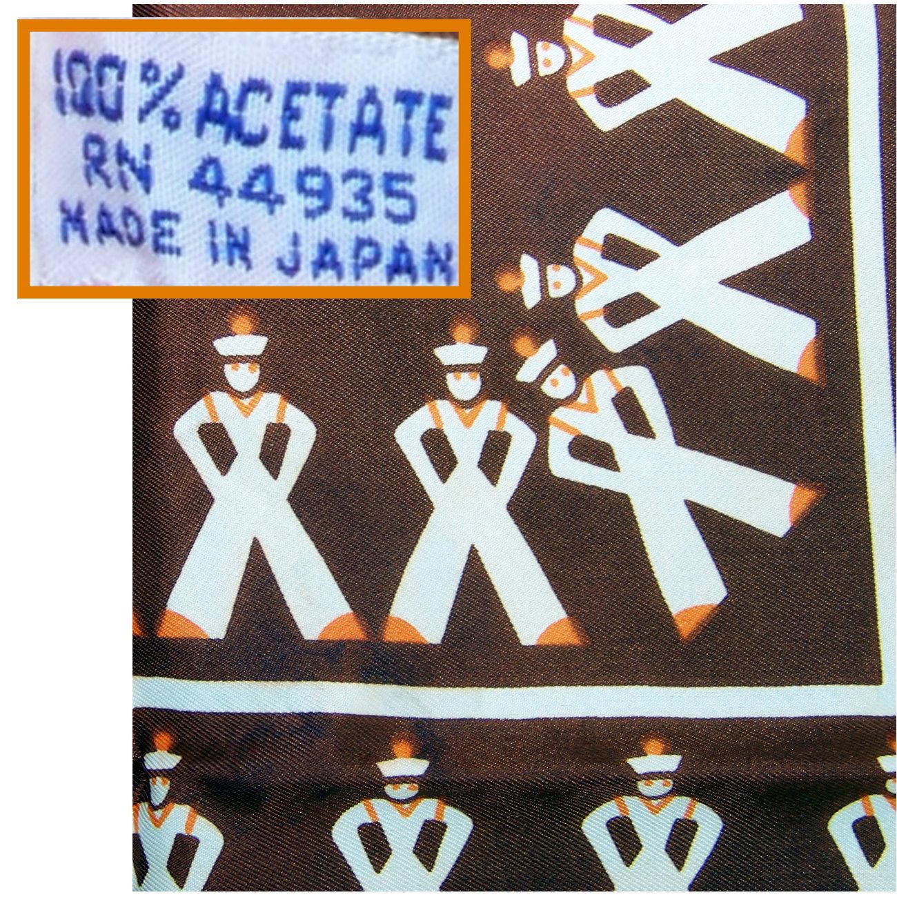 Japan scarf 70s nautical french seaman