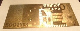 NEW $500 EURO Bank Note .999 GOLD Foil  EUROPEAN  SUPER NICE - $3.99
