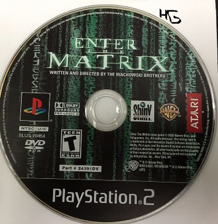 Enter the Matrix (Sony PlayStation 2, 2003) DISC ONLY TESTED WORKING - $3.99