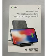 iOttie iON WIRELESS Qi Stand Phone Charging Pad GREY for iPhone Samsung ... - $27.81