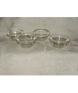 Vintage 1940s-50s GLASBAKE 4 Custard Cups #285 Made in USA Clear Glass O... - $16.00