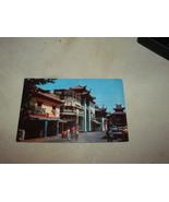 CHINA TOWN LOS ANGELES VINTAGE UNUSED POSTCARD - $5.90
