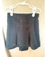 Girl's Faded Glory Dark Navy School Uniform Pleated Button Front Skort S... - $2.00