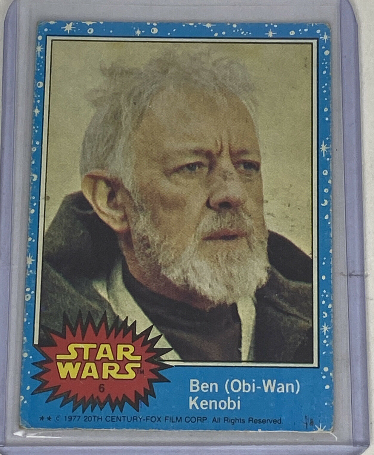 1977 Star Wars #6 Ben (Obi-Wan) Kenobi Topps Trading Card Original Blue Series 1 - $59.39