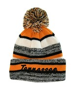 Tennessee 4-Color Embroidered Winter Knit Pom Beanie Hat (Orange) - $13.98