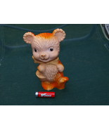 VINTAGE USSR SOVIET RUSSIAN RUBBER TOY BEAR WITH BASKET ABOUT 1970 - $14.84