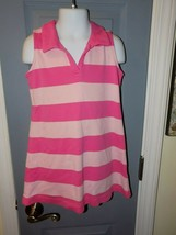 Hanna Andersson Two Tone Pink Striped Sleeveless Polo Dress Size 100 Gir... - $21.84