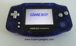 Nintendo Game Boy Advance GBA Clear Purple w/ Backlit Screen - Backlight... - $119.18