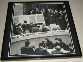John F Kennedy JFK 1962 United Nations Framed 11x14 Photo Poster Display - $34.64