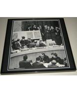 John F Kennedy JFK 1962 United Nations Framed 11x14 Photo Poster Display - $34.64