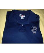 Polo Men 4XL Interpreter John ASL Sign Language Blue American Embroidere... - $27.72