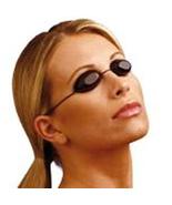 Black Flexable Tanning Goggles UV Eye Protection - $5.00