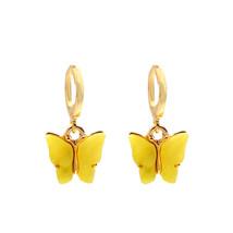 Flatfoosie New Fashion Women Butterfly Drop Earrings Animal Sweet Colorf... - $10.72