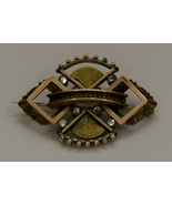 Vintage Victorian Brooch with C Clasp and Rhinestones - $39.99