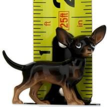 Hagen Renaker Dog Chihuahua Small Black and Tan Ceramic Figurine image 2