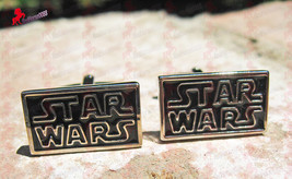 Star Wars Silver Plated and Black Cufflinks-Wedding, Father's Day, Birthday Gift - $3.95