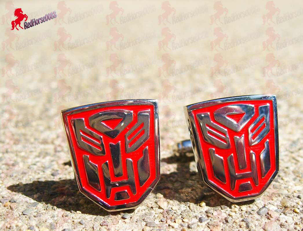 Transformers Silver Plated and Red Cufflinks - Wedding, Father's Day Gifts - $3.95