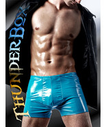 Thunderbox GLOSSY TURQUOISE PVC Titan Pouch Shorts! S-M-L-XL - $25.00