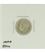 1964-D  United States Roosevelt Dime 90% Silver Rating : (F)  Fine - €1,05 EUR