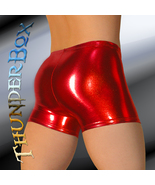 Thunderbox Chrome Metal Red Gladiator Shorts  Dancers Costume Theater S ... - $25.00