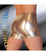 Thunderbox Chrome Metal Silver Gladiator Shorts  Dancers Costume Theater... - $25.00