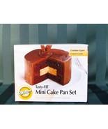 WILTON TASTY FILL MINI CAKE PAN SET FILLED CAKES NIB 4 PANS IN BOX - $12.87